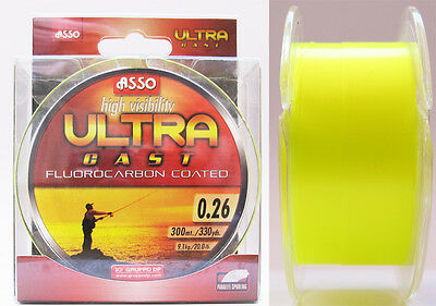 Asso Ultra Cast Recubierto Fluorocarbono Sedal 300 m Carretes