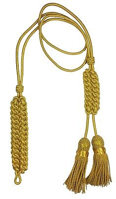 Gold Mylar Major Dress Cord Made with two tassels, Regulation Pattern