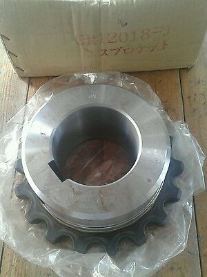 New Tsubaki ANSI #120 18 Tooth Sprocket marked with CP12018-J approx bore 3-7/8""