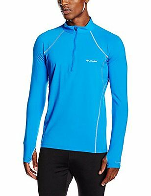 Columbia Midweight Stretch Long Sleeve Half Zip Intimo Termico, Hyper Blue, M