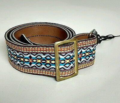 Vintage Adjustable Guitar Strap Multi-Colored