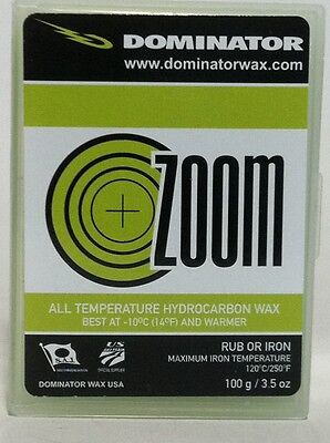 Dominator Zoom Lime Universal Ski and Snowboard Wax 100g