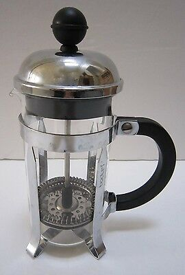 Bodum Chamboard French Press 3 Cup Stainless Steel Chrome Glass Tea Coffee Maker