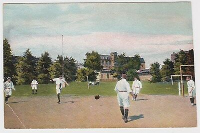 Men playing a game of Soccer football OLD POSTCARD circa 1905