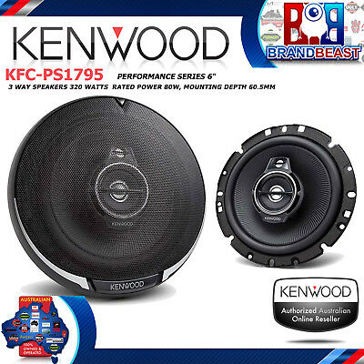 NEW KENWOOD KFC-PS1795 PERFORMANCE SERIES 6.5 3 WAY 330w  COAXIAL SPEAKER SYSTEM