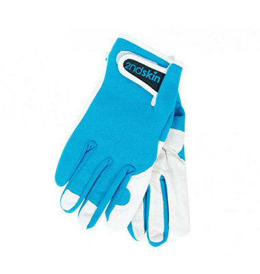 NEW Sprout Mens Second Skin Gardening Gloves Aqua