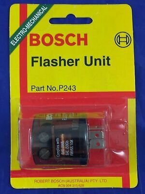 Genuine Bosch P243 Electronic Turn Signal Flasher Can Unit  15A 24V  3 Pin