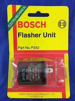 Genuine Bosch P242 Electronic Turn Signal Flasher Can Unit  15A 24V  2 Pin
