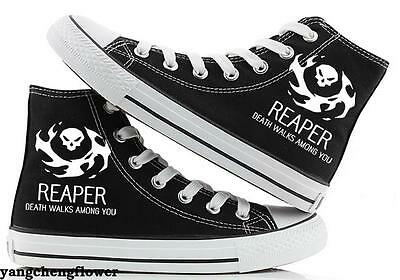 OW Overwatch REAPER High Canvas Shoes Casual Sneakers Men Women Fashion