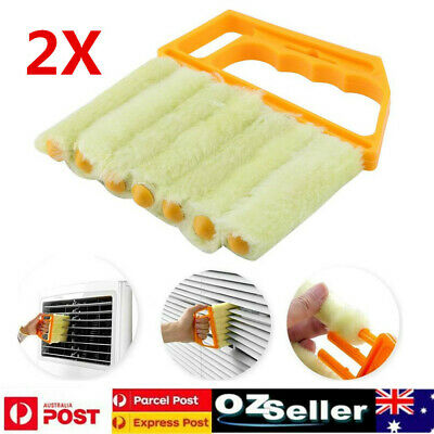 2x Microfibre Venetian Blind Blade Cleaner Window Conditioner Duster Clean Brush