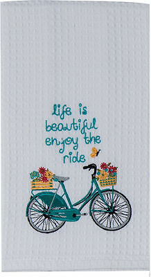 Kay Dee Designs Enjoy The Ride Kitchen Towel One Size Blue