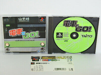 PS1 DENSHA DE GO ! with SPINE CARD * Playstation PS Taito Japan Game p1