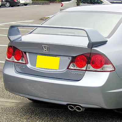 REAR TRUNK SPOILER MUGEN STYLE FOR HONDA CIVIC '06-'11 4D Sedan Unpainted
