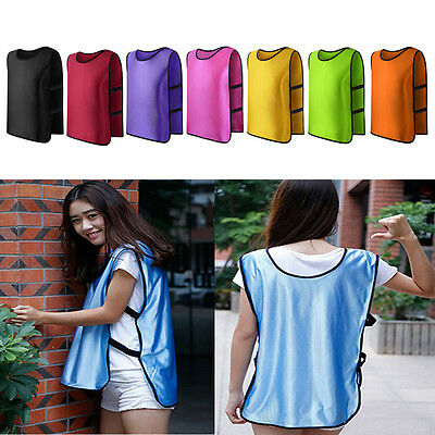Team Training Scrimmage Vests Basketball Soccer Youth Adult Pinnies Jerseys New
