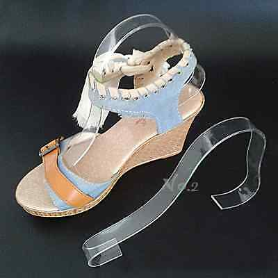 No.2 Warehouse Pack of 10 Acrylic Sandal Shoe Store Display Stand Forms Inserts