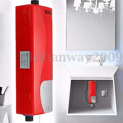 3000W Kitchen Bathroom Electric Instant Hot Water Tankless Tap Faucet Heater
