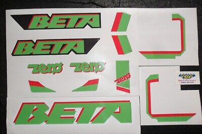 Beta Zero Trials adhesive decals kit - x2 types available (see photos)