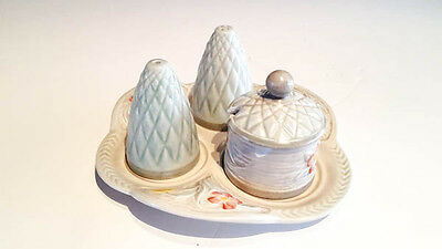 Vintage cruet set H.J Wood Burslem pottery tableware collectables