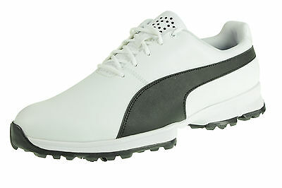 Puma Grip Cleated Golf Zapatos Impermeables Shoe188662 01 Blanco