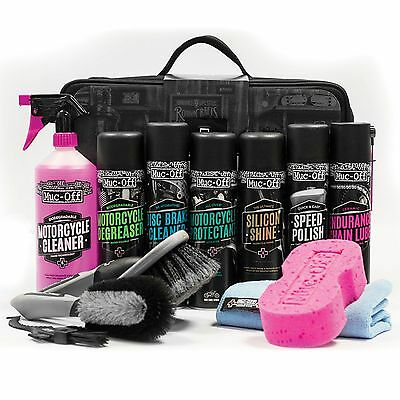 Muc-Off Motorcycle/Bike Maintenance/Valet/Cleaning/Cleaner Case Kit