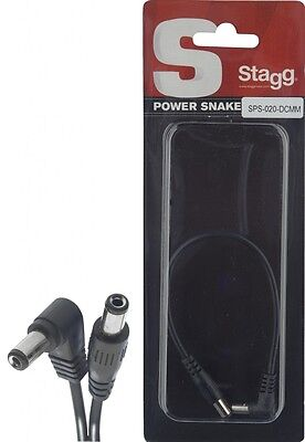 Stagg 20cm Power cable SPS-020-DCMM - Effects pedal power link cable