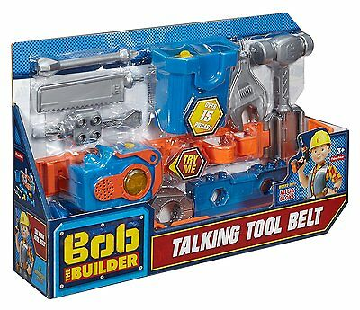 Bob the Builder Talking Tool Belt Fisher Price Toy Kids Role Play New Free Ship