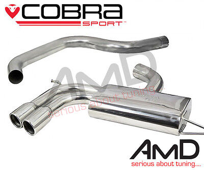 """Cobra Sport MK5 Golf GTi Cat Back Exhaust Non Resonated Stainless Steel 3"""""""