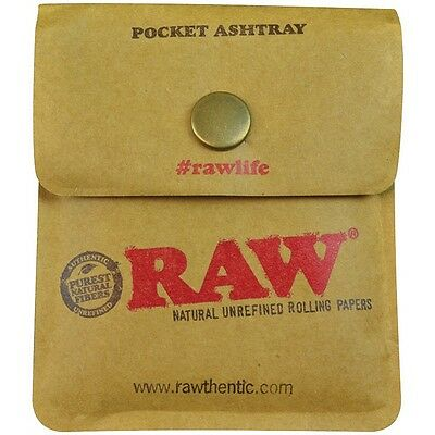 Pocket Ashtray/Pouch ~ RAW ~ Smoking/Tobacco Supplies