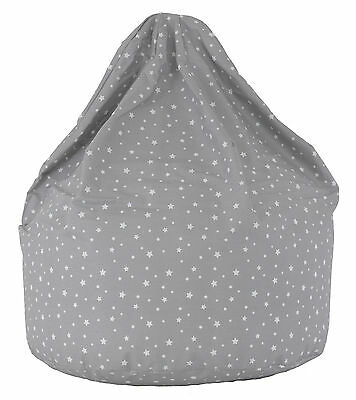 Child Size Grey Stars Bean Bag With Beans By BeanLazy