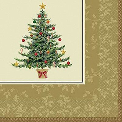 Classic Victorian Christmas Tree Napkins Serviettes Pack Of 16 Festive
