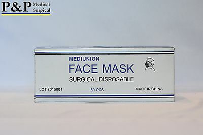 P&P Ear Loop Face Mask  1000 (thousand) Dental Medical Surgical Light Soft 3-ply