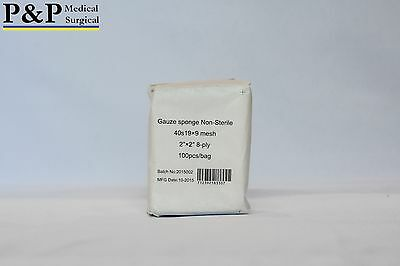P&P Gauze Pad  Wound Dressing 8 Ply 2x2  non-sterile 300/pack Designed in USA