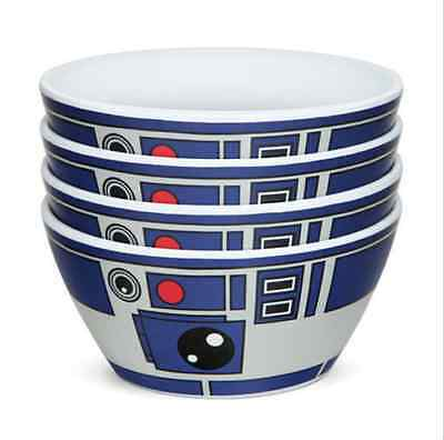 Star Wars R2-D2 Bowls - Set of 4 - New In Box FREE SHIPPING