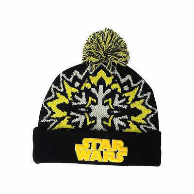 Star Wars Glowflake 2.0 Pom Knit Beanie Hat Cap Glow in the Dark Rogue One  Story aefebd0baaa7