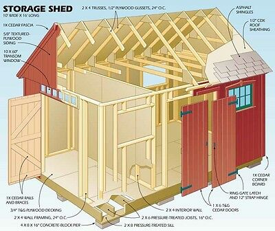 Over 1000 Diy Wood Plans & Projects Houses Sheds Wooden Buildings Pc Cd New