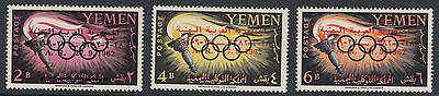 YEMEN : 1963 Surcharges on Olympics  stamps SG221-3 MNH