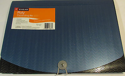 Smead Poly Expanding File, with Flap and Elastic Cord, 12 Pockets
