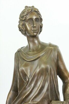 Beautiful Vintage Style Figurine Victorian Lady Woman Statue Signed Sculpture