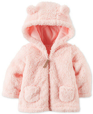 Carter's Baby Girl Faux-Sherpa Zip-Up Jacket Sweater Coat 3 6 9 12 18 Month $30