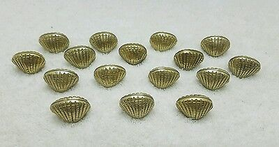 16 Brass Sea Shell Scallop Coquille Place Card Holders