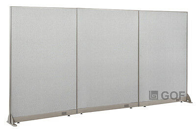 """GOF Office Freestanding Partition 144""""W x 72""""H / Office Divider"""