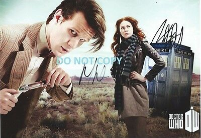 Dr Who - Hand Signed By The 2 Main Cast With Coa Original Rare Autograph Pic
