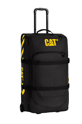 New Cat Wheel Loaders Backhoe Large 80L Trolley Black Bag Luggage Black P083014