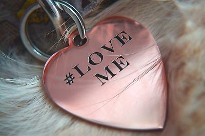 Animal Jewelry ID Pet Tags Dog Kitten Puppy Cat Name Personalised Engraved
