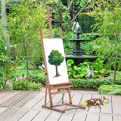 Easel Beech Wooden Easel Painting Drawing Stand Artist Sketch Display Adjustable