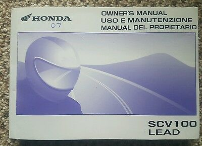 Honda SCV100 Owners Manual
