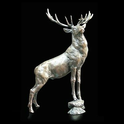 Lord of Stags Solid Bronze Foundry Cast Sculpture Michael Simpson (845)