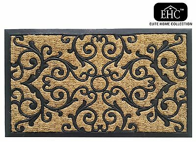 Ehc Panama Natural Coir & Rubber Indoor or Outdoor Non-Slip Door Mat