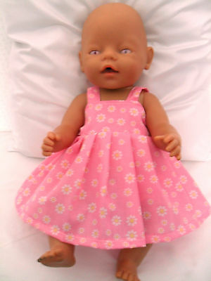 "17"" Pinny Dress Dolls Clothes Fit Baby Born 43Cm Or Similar"