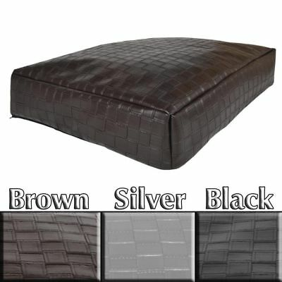 Designer Dog Bed in Faux Leather Braided with Rebound Foam Filling in 3 Colours